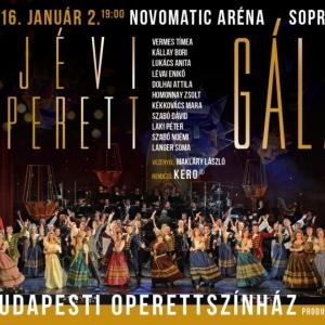 Újévi Operettgála 2016-ban a soproni Novomatic Arénában - Jegyek itt!