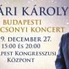 Nyári Károly Budapesti Karácsonyi koncert a Budapesti Kongresszusi Központban - Jegyek itt!